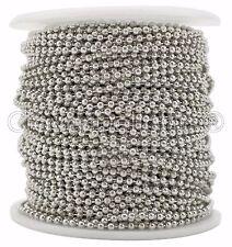 Ball Chain Spool - 100 Feet - Antique Silver Color - 2.0mm Ball - 30 Meters Bulk