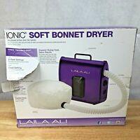 Laila Ali Ionic Soft Bonnet Hair Dryer Portable Rollers Braids Purple