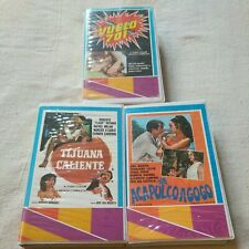 Lot of 3 Rare Betamax (Not VHS) Mexi Action Comedy Spanish Mexcinema Clamshells