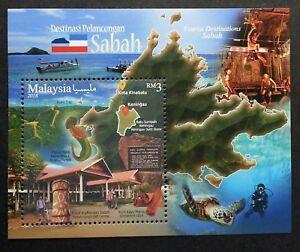 *FREE SHIP Malaysia Tourist Destinations Sabah 2018 Pitcher Turtle Dance (ms MNH