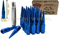 20pc Blue Spike Lug Nuts 1/2-20 Fits 1995-2014 Ford Mustang Aftermarket Wheels