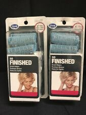 NOS 2 Packages Goody SO Finished Brush Rollers Blue 82457 W/picks Soft Curls