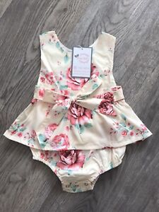 Baby Girl Spanish Romper Dress Outfit Vintage Traditional Style Floral Bloomers