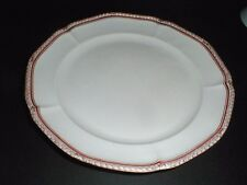 Nymphenburg German Gold Laurel Red Band, Scalloped #NYM9 Dinner Plate (loc-K12)