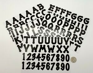 Alphabet Stickers - Large Black Alphabet & Numbers - Scrapbooking NO 502