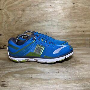 Brooks Pure Flow 4 Running Shoes 1101901D415, Men's size 10D, Blue Green