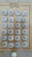"""BUTTONS VINTAGE ROUND PORCELAIN GLASS PAINTED BEADED EDGE 3/4"""" SHANK BACK (B5)"""