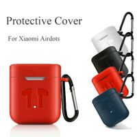 Silicone Earphone Case with Carabiner Hook for Xiaomi Airdots Pro Protection Top