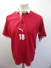 Maglia da calcio vintage usato N°18 années 90 Puma Rosso Taglia L