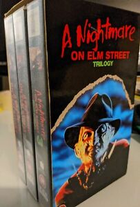 A Nightmare On Elm Street 1,2,3 Trilogy Box Set VHS *RARE*