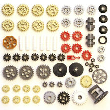 Lego Technic Gears Cogs Wheels Worm Clutch Pulleys Differential - 65 Parts - NEW