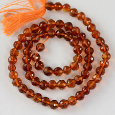 5mm Madeira Citrine Faceted Round Rondelle Beads 14 inch strand
