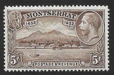 Montserrat 1932 300th Anniversary of Settlement 5/- Chocolate SG 93 (Mint)