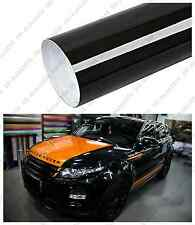 "12"" X 53"" GLOSS BLACK Vinyl Film Wrap Sheet With Air Release Pockets Bubble Free"