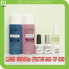 GELISH Harmony Kit 6pcs- Cleanse 8oz,Remover 8oz,Structure Gel,Base,Top &pH Bond