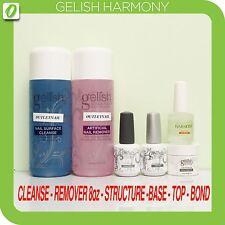 GELISH Harmony Kit 6pcs- Cleanse 8oz,Remover 8oz,Structure Gel,Base,Top &pH Bond