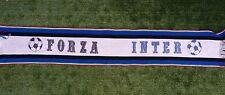 SCIARPA CALCIO INTER VINTAGE TRICOLORE SCARF BUFANDA STADIO FOOTBALL MATCH Z37