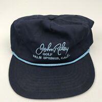 Vintage John Riley Golf Palm Springs Adjustable Strapback Hat Blue Atlas