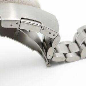 18mm Stainless Steel Replacement Strap Watch Bracelet Fits Omega Seamaster