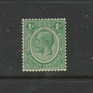 BRITISH HONDURAS 1929 KING GEORGE V 1 CENT GREEN SG126 - MOUNTED MINT