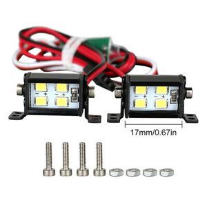 Roof Lamp Dual-Row Spotlight LED Light Kit For SCX10 TRX4 1/10 RC Climbing Car