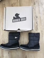 Rubber Duck Classic Black Snow Joggers Boots Nylon & Suede UK 7 Boxed