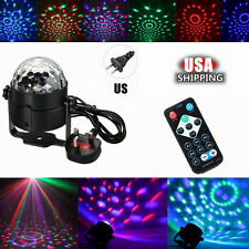 Remote Control Crystal Magic Ball 3W 3 LED Stage Light Party Disco DJ Club KTV
