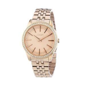 Joop! Element Damen-Armbanduhr rosé Analog Quarz Edelstahl JP101162F11
