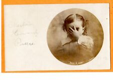 Real Photo Postcard RPPC Little Girl Peeking Between Fingers D T Burrell Studio