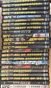 Lot of 23 MMA Ultimate Fighting DVD's UFC Brock Lesnar Tito Ortiz Chuck Liddell