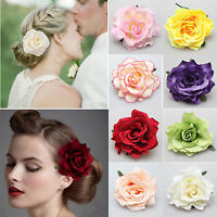 1 PC Charm Rose Flower Hair Clip Hairpin Brooch Wedding Bridesmaid Party Corsage
