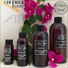 Highly scented REED DIFFUSER OIL REFILL + 10 FREE STICKS 50ml 100ml 250ml 500ml