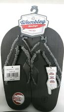 NEW WEMBLEY MENS GRAY SLIPPERS FLIP-FLOPS INDOOR/OUTDOOR SZ LARGE 9 1/2-10 1/2