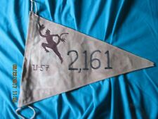 WWII GERMAN U-BOAT ERICH TOPP U-57 RED DEVIL 2161 TON VICTORY FLAG