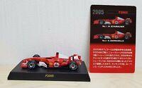 1/64 Kyosho FERRARI F1 F2005 Rubens Barrichello diecast car model