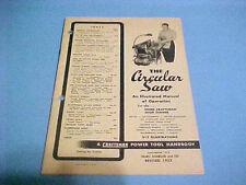 VINTAGE 1952 CRAFTSMAN CIRCULAR SAW ILLUSTRATED MANUAL OF OPERATION