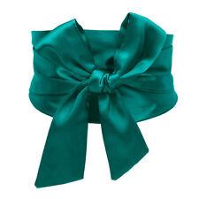 Satin Bowknot Corset Belt Extra Wide Ribbon Tie Dress Waistband Wedding Party