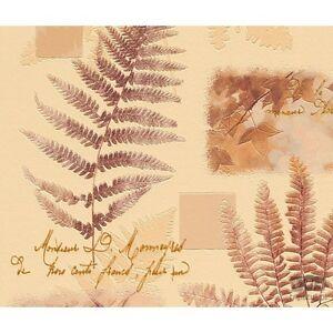 Ivy & Ferns Beige / Brown Contour Wallpaper by Rasch Pattern 824810 Batch No 4