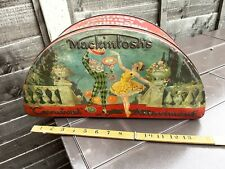 More details for mackintosh half moon carnival halloween toffee shop advertising tin c1920s
