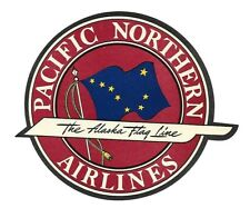 Authentic Vintage Luggage Label ~ PACIFIC NORTHERN AIRLINES