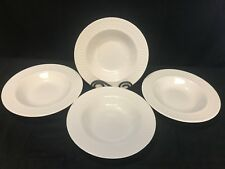 "Oneida ""BASKETWEAVE""  White Dinnerware ~ Set of 4 ~ Soup Bowls ~ 8 7/8"""