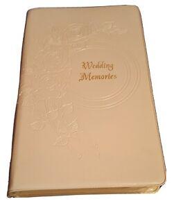 Wedding Memories Video Case- White Plastic VHS Tape Holder