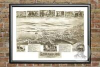 Old Map of Strasburg, PA from 1903 - Vintage Pennsylvania Art, Historic Decor