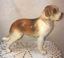 Vtg 1940-50's Japan H7328 St. Saint Bernard Puppy Dog Figurine Statue Hand Paint