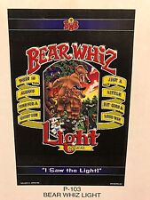 Bear Whiz Beer Light ~ Vintage ~ New Old Stock ~ Poster Advertising Sign P3