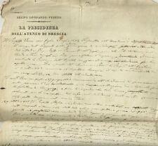 Presidenza dell'Ateneo di Brescia Eventi e Affari dei Ministri dal 1802 al 1812