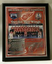 Detroit Red Wings 2002 Stanley Cup Champions Plaque by Healy Awards