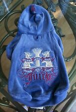 XS Juicy Couture Lady G Velour Doggie dog puppy hoodie 1000% AUTHENTIC! XSmall