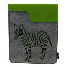 Zebra Felt iPad / Tablet or Gadget  Case / Sleeve Wild Animal Designer Pouch