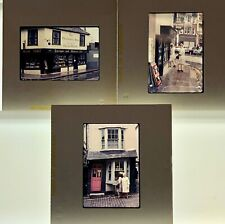 35mm Slide Lot 1967 Original 3 Snapshots LONDON, ENGLAND Ye Old Curiosity Shop